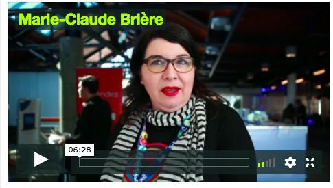 Vidéo de Marie-Claude Brière durant le WAQ 2015